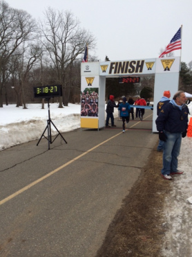 Finishing up at Caumsett 50k in March.
