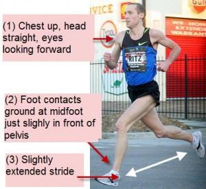 downhill running technique