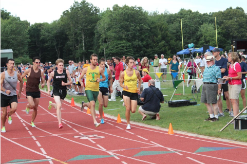 Jenkins gearing up at the Exeter Mile last summer, third from left in the black singlet (courtesy of Anne London… NACHO!!!)