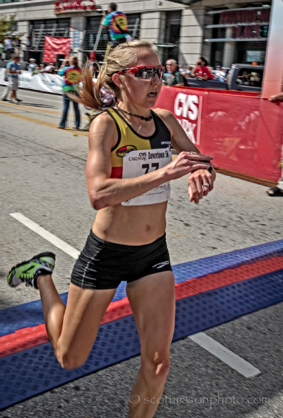 Neely at the 2012 CVS Downtown 5k (courtesy of Scott Mason)