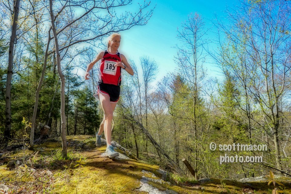 Christin Doneski of Whirlaway won the Sleepy Hollow race in 48:59. She impressively finished 11th overall. Photo courtesy of Scott Mason.