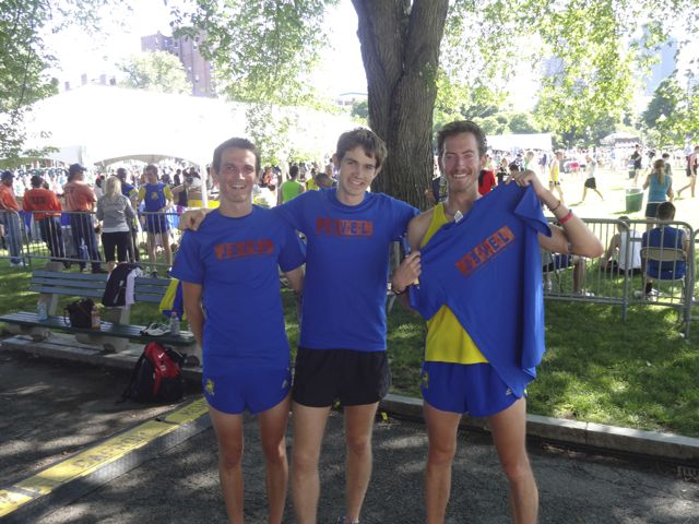 Hatton, Harvey & Ritchie after the 2012 BAA 10k.