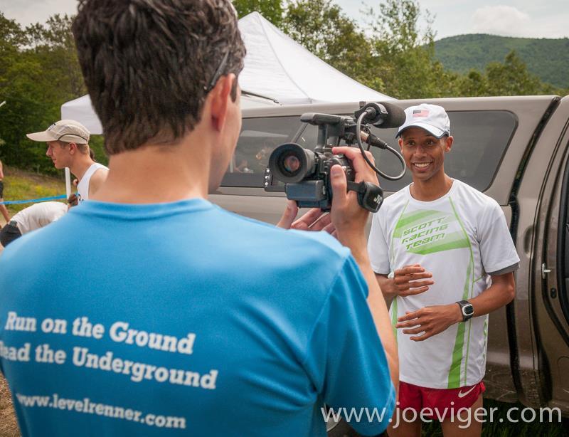 EJN interviews champion Joe Gray.  Photo by Joe Viger.