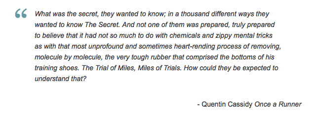 Once a Runner quote