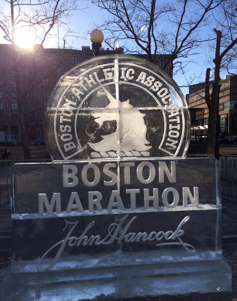 Boston Marathon ice Stirrat
