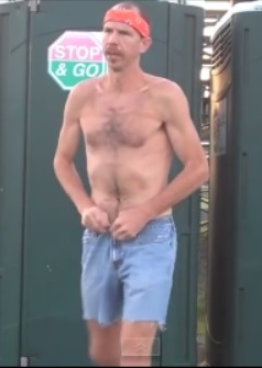Jorts are unsexy, especially when worn coming out of a portapotty.