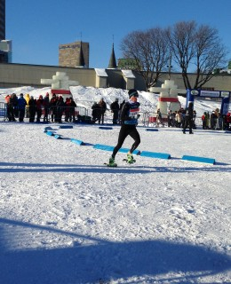 2015 World Snowshoe Championships Ayr Wilson finishing