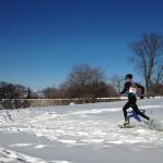 2015 World Snowshoe Championships Ayr Wilson action shot