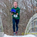Belleville Pond 10k trail race 02.07.2015 Muddy Beanie Mason