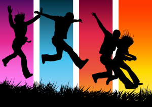 rainbow runners silhouettes clip art bing 5.3.15