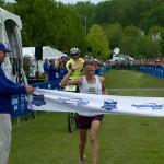 Vermont City Marathon 5.24.2015 Mason Enman finish
