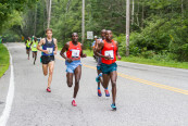 Bedan Karoki Muchiri leads race early on way to victory