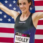 Molly Huddle celebrates victory after setting new American Record 31:37 in NYRR Oakley Mini 10K for Women