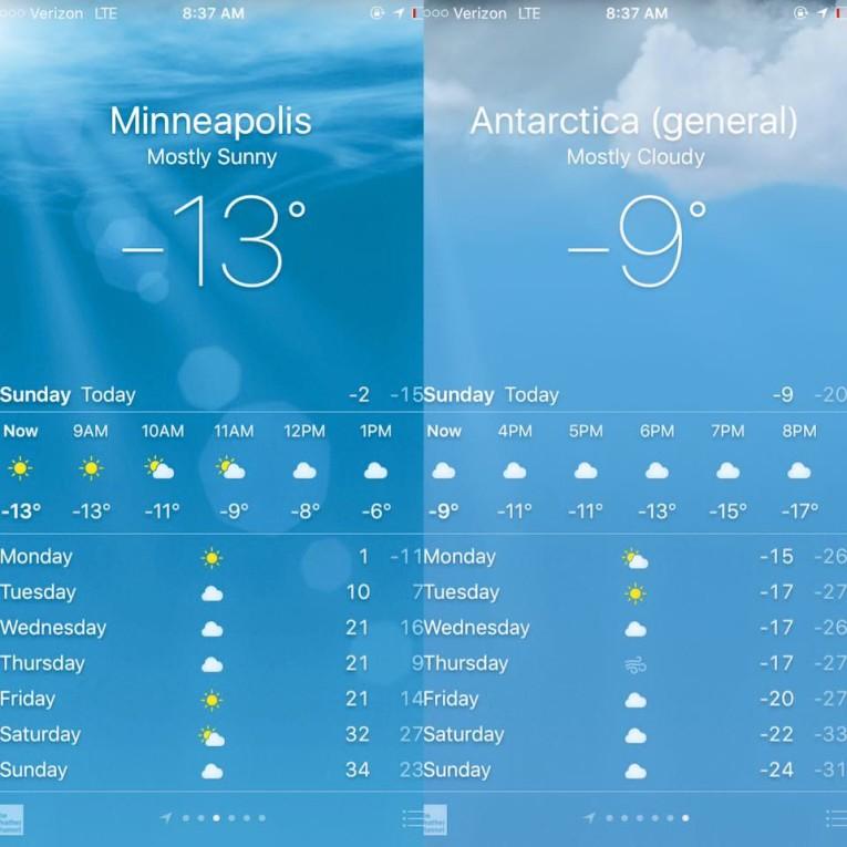 Minneapolis v. Antarctica