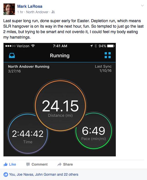 Easter LaRosa long run 2016.03.27