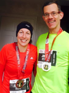 The author with his training partner, Erika. Photo courtesy of John Fischer.